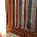 Particolare del cancello di sicurezza , abitazione a San Savino (CR).