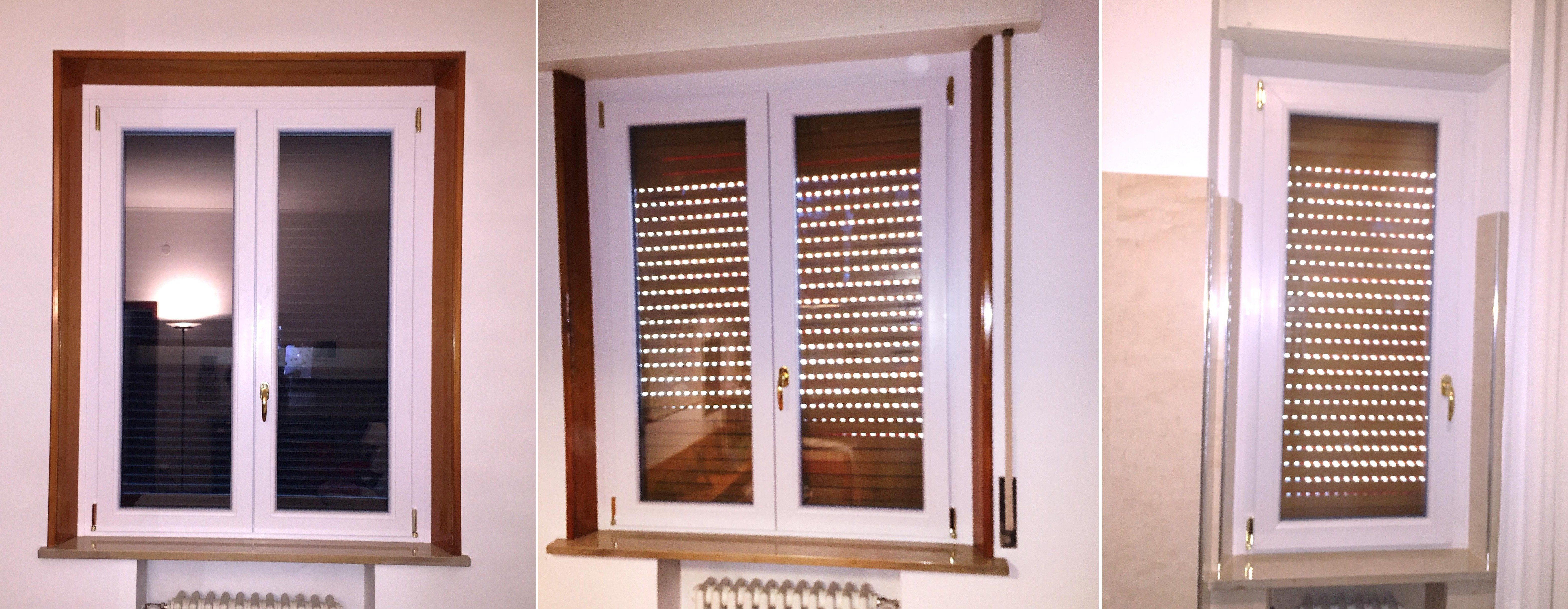 Sostituzione serramenti in PVC bicolore , abitazione a Cremona.